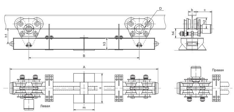 подвесного крана схема