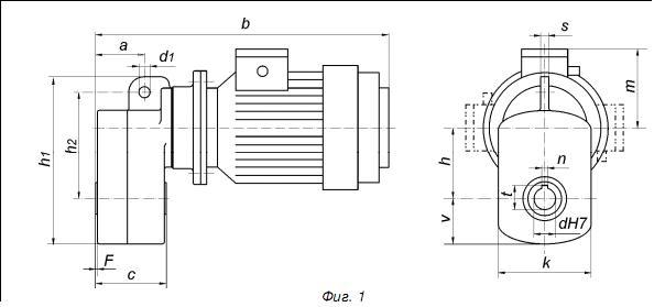 Схема мотор-редуктора тельфера