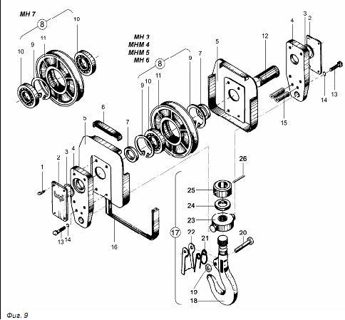 схема крюка в комплекте
